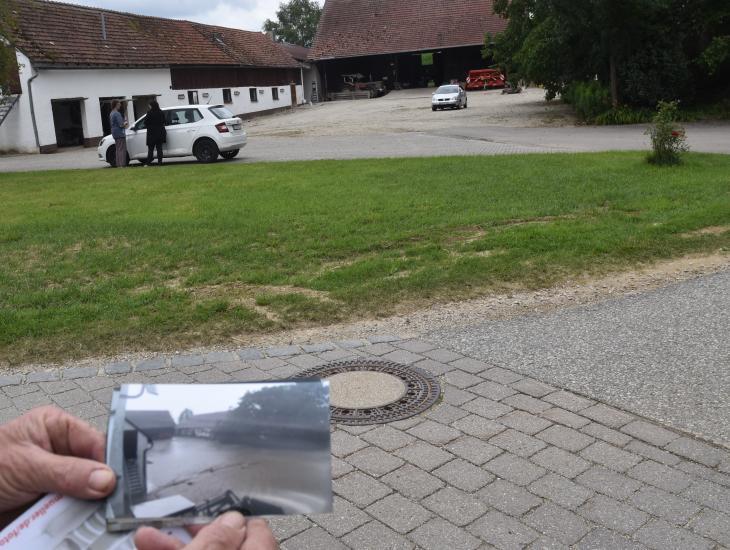 """Hofstelle in Ursbach - Anfang Juni 2018 war hier """"Land unter"""" (kleines Bild)"""