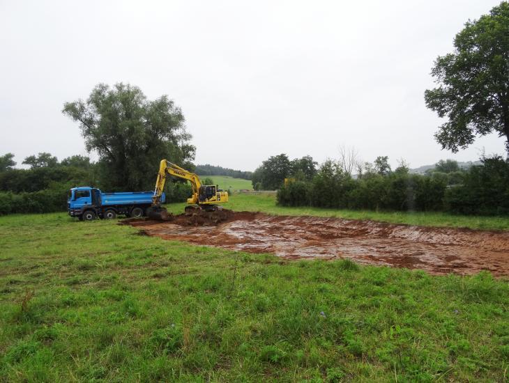 Hangparallele Wasserausleitung