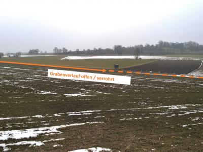 """Abbildung 4: Blick auf den """"Graben südlich von Loh"""" vor der Maßnahmenumsetzung"""