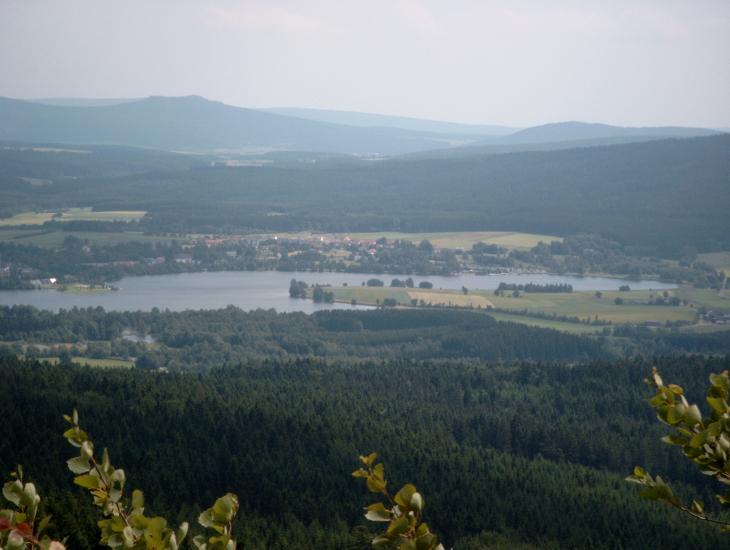 Bilck vom Waldstein auf den Weißenstädter See