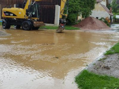 Überfluteter Ortskern
