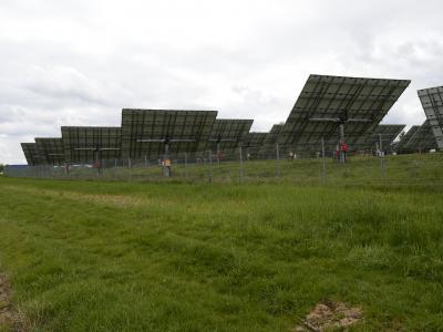 Photovoltaikanlage am Bindlacher Berg.