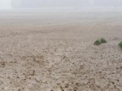 Flächenhafter Abfluss bei Starkregen