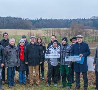 Ortstermin mit allen Beteiligten am Absetzbecken am Hartgraben (KULAP B59)