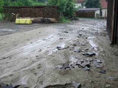 Hochwasserschäden im Ortsbereich