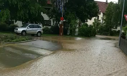 Starkregenabfluss Ende Juni