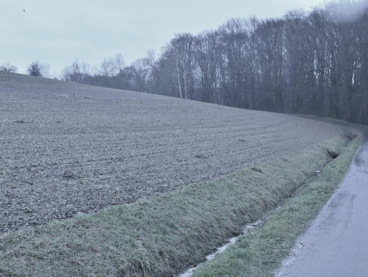 Abb. 2: Erosionsschäden im Winter (Hofstäden)