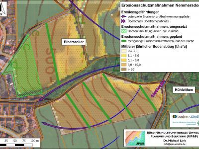 Maßnahmenplanung in Nemmersdorf im Bereich des Elbersackers wowie westlich der Kühleithen