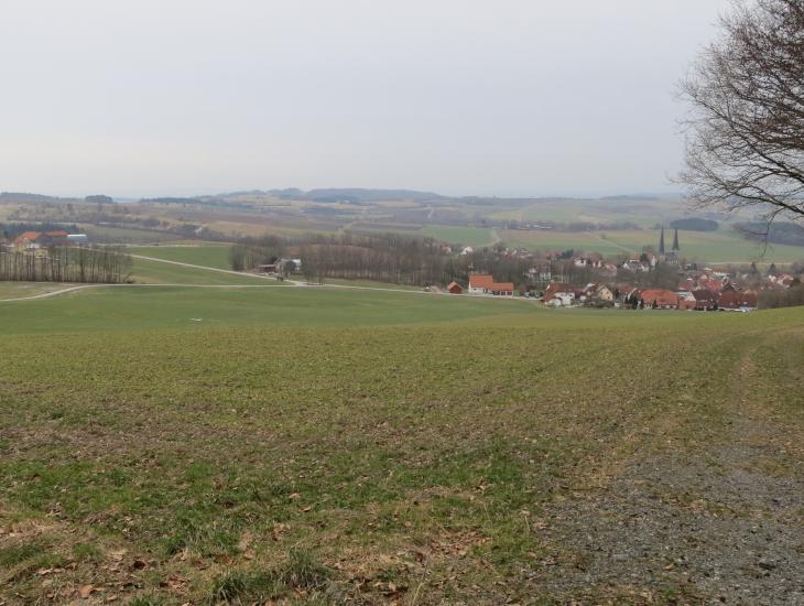 Blick ins Projektgebiet bei Nemmersdorf (Stadt Goldkronach)