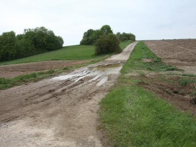Erosion nach Starkregen