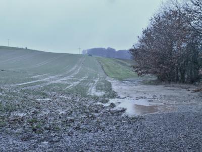 Abb. 3: Erosionsschäden im Winter (Krombach)