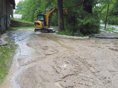 Der Abfluss am Wiesaumühlbach wird wieder hergestellt.
