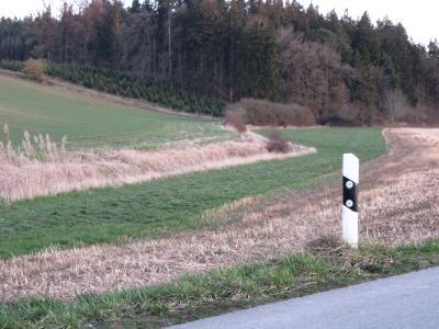 Gewässerschutzstreifen an beiden Seiten des Steinbachs