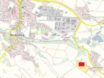 Die Demonstrationsanlage befindet sich Westlich von Waizenreuth (Weidenberg)