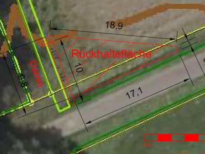 Abb. 2: Skizze der an der Wulgera geplanten Maßnahme (GeoTeam, 2019)